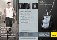 Download Jabra STREET Headset Data Sheet - Headset Philippines