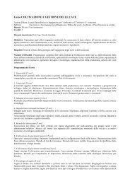 Corso COLTIVAZIONE E GESTIONE DELLE CAVE