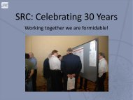 SRC: Celebrating 30 Years - Semiconductor Research Corporation