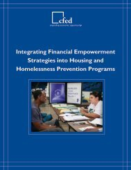 Integrating Financial Empowerment Strategies into Housing ... - CFED