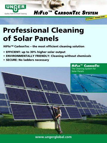 Professional Cleaning of Solar Panels - Unger