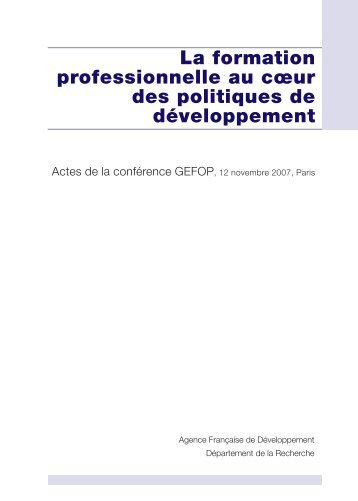 La formation professionnelle - Agropolis International