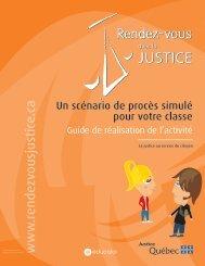 Guide de l'enseignant - Les Rendez-vous avec la justice