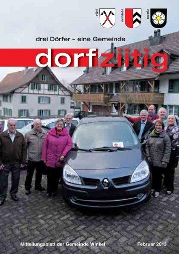 Dorfziitig_Februar_2013 [PDF, 2.00 MB] - Gemeinde Winkel
