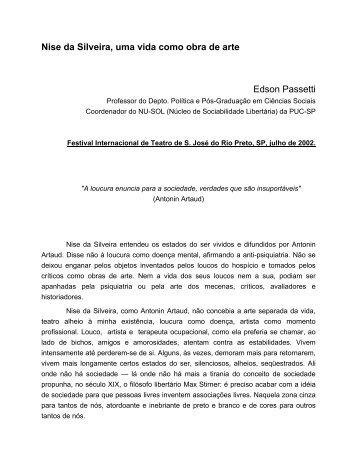 Nise da Silveira, uma vida como obra de arte - Museu de Imagens ...