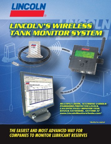 lincoln's wireless tank monitor system lincoln's ... - Lincoln Industrial