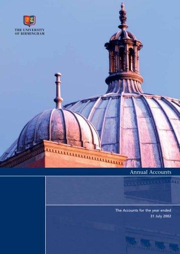 Year Ended 2002 - University of Birmingham