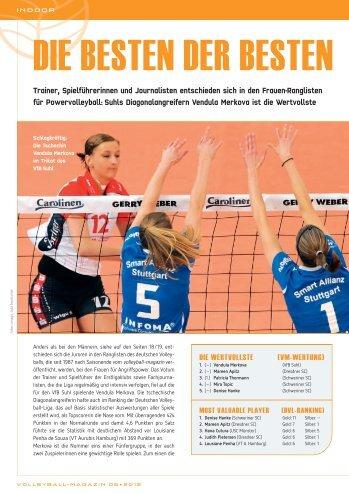 Ranglisten 2012 Frauen - Volleyball-Magazin
