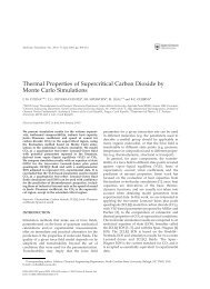 Thermal Properties of Supercritical Carbon Dioxide by Monte Carlo ...