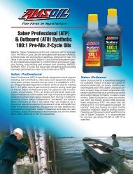 Saber Professional (ATP) & Outboard (ATO) Synthetic 100 ... - Synpsg