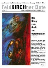 FeldKIRCHner Bote 6 Gottesdienste Feldkirchen - Radweg - St. Ulrich