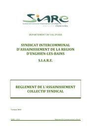 syndicat intercommunal d'assainissement de la region d ... - Siare