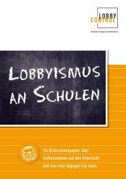 Lobbyismus an Schulen - IG Metall Jugend Hamm-Lippstadt