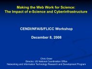 Making the Web Work for Science: The Impact of e-Science ... - cendi