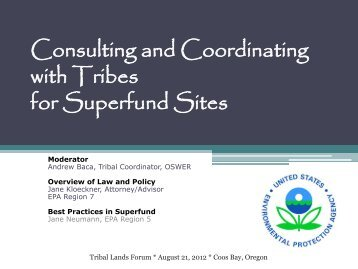 Consulting and Coordinating with Tribes for Superfund Sites - Nau