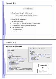 Herencia (III) Herencia (III) Ejemplo de Herencia
