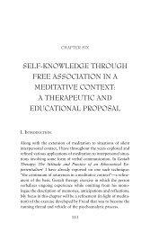 self-knowledge through free association in a ... - Claudio Naranjo