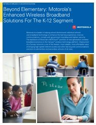 Motorola Wireless K-12 Education Solutions - Moonblink ...