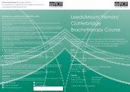 Leeds/Mount Vernon/ Clatterbridge Brachytherapy Course