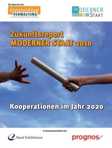 Zukunftsreport MODERNER STAAT 2010 - Prognos AG