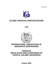 Issues in regulation and supervision of Takaful (Islamic Insurance)