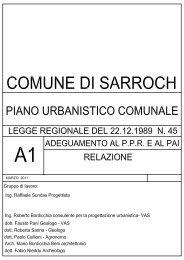 PUC adottato - A1 - RELAZIONE GENERALE - Comune di Sarroch