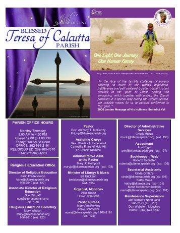 Feb2507 - Blessed Teresa of Calcutta Parish