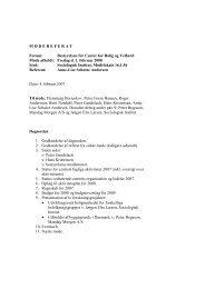 Referat fra bestyrelsesmøde 1.2.08 - Center for Boligforskning