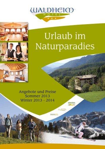 Urlaub im Naturparadies - Hotel Waldheim
