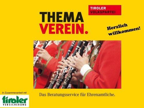 Präsentation zum Thema Verein - Kramsach - Tiroler Volkspartei