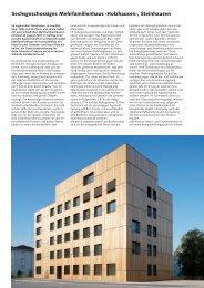 Sechsgeschossiges Mehrfamilienhaus ‹Holzhausen ... - Josef Kolb AG