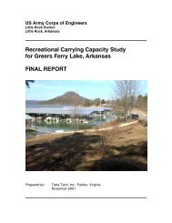 Greers Ferry Lake Recreational Carrying Capacity Study - U.S. Army