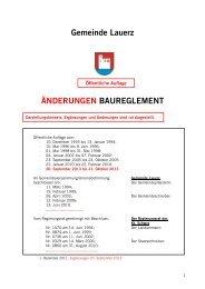 Gemeinde Lauerz ÄNDERUNGEN BAUREGLEMENT