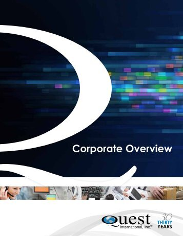 Corporate Overview - Quest International