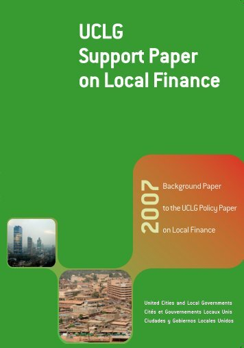 UCLG Support Paper on Local Finance