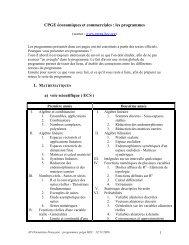 les programmes - Lycée Rochambeau