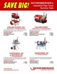 ROTHENBERGER's Industrial Pipe Tools Summer Sale MINI ...