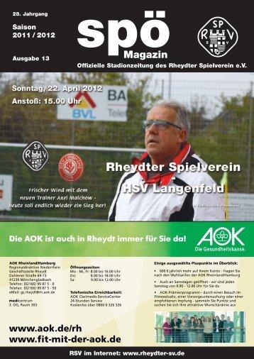 HSV Langenfeld - beim Rheydter SV