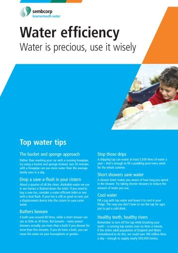 Water efficiency - Sembcorp Bournemouth Water