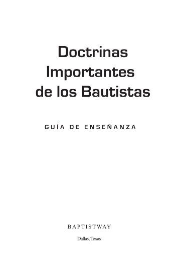 Doctrinas Importantes de los Bautistas - BaptistWay Press