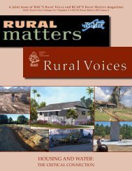 Access a pdf version of Rural Voices - Housing Assistance Council
