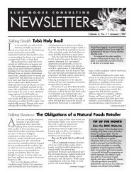 BMC Newsletter, Vol. 4, Issue 1 - January 2007 - Blue Moose ...