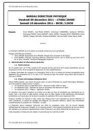 PV 10 BD 9 et 10 décembre 2011 - Fédération Française de Triathlon