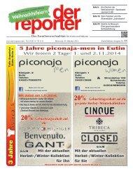 der reporter - Das Familienwochenblatt für Eutin und Malente 2014 KW 44