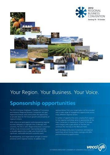 Your Region. Your Business. Your Voice. Sponsorship ... - Vecci