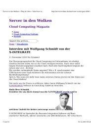 Interview mit Wolfgang Schmidt von der X-INTEGRATE - Timetoact