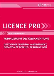 Licence pro Management des organisations - Université du Littoral ...