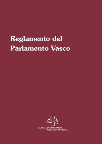 Reglamento del Parlamento Vasco - Eusko Legebiltzarra