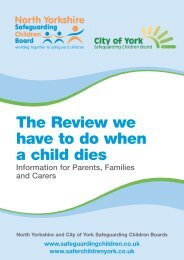 The Review we have to do when a child dies Information for Parents ...