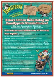 Party mit Betreuung - Familypark Neusiedlersee